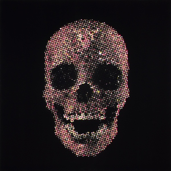 Skull (MADE IN TOKYO), acrylic on canvas, 1000 x 1000 mm, 2015